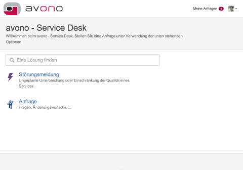 avono AG - JIRA Service Desk